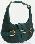 Luxury Accessories:Bags, Jimmy Choo Green Suede Tulita Hobo Bag . ...
