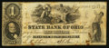 Obsoletes By State:Ohio, Columbus, OH- The State Bank of Ohio, Franklin Branch $1 Aug. 28,1858 Wolka 0893-06. ...