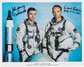 Autographs:Celebrities, Gemini 10 Crew-Signed White Spacesuit Color Photo. ...