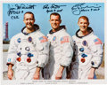 Autographs:Celebrities, Apollo 9 Crew-Signed White Spacesuit Color Photo. ...