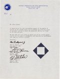 Explorers:Space Exploration, Apollo 14 Flown Fabric Swatch on Presentation Certificate. ...