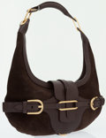 Luxury Accessories:Bags, Jimmy Choo Brown Suede Tulita Hobo Bag . ...