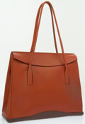 Luxury Accessories:Bags, Prada Brown Leather Structured Shoulder Bag . ...
