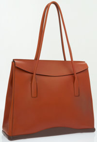 Prada Brown Leather Structured Shoulder Bag