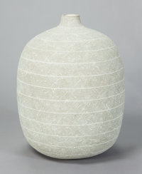 CLAUDE CONOVER (American, 1907-1994) Tzac, 1988 Ceramic 22-1/2 high with a circumference of 55 in