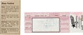 Music Memorabilia:Autographs and Signed Items, Stevie Ray Vaughan Signed Unused Dallas Concert Ticket (1990)....