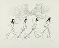 Music Memorabilia:Posters, The Beatles Abbey Road Al Hirschfeld Limited Edition Print #46/175....