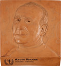 Football Collectibles:Others, Circa 1980's Knute Rockne Plaque from College Football Hall of Fame Traveling Exhibit....