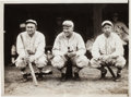 Baseball Collectibles:Photos, 1928 Ty Cobb, Tris Speaker & Eddie Collins News Photograph,PSA/DNA Type 1....