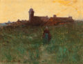 Paintings, CARLTON THEODORE CHAPMAN (American, 1860-1925). Sundown, 1886. Oil on panel. 4-3/4 x 6-1/4 inches (12.1 x 15.9 cm). Sign...