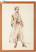 Movie/TV Memorabilia:Original Art, A José Ferrer Pair of Costume Design Sketches, 1958, 1967....(Total: 2 Items)