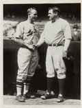 Baseball Collectibles:Photos, 1928 Babe Ruth & Jim Bottomley at World Series News Photograph,PSA/DNA Type 1....