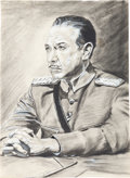 Movie/TV Memorabilia:Original Art, A José Ferrer Pencil and Paint Portrait, Circa 1962.. ...