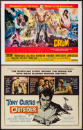 """Movie Posters:War, The Outsider & Other Lot (Universal, 1962). Half Sheets (2)(22"""" X 28""""). War.. ... (Total: 2 Items)"""