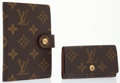Luxury Accessories:Accessories, Louis Vuitton Set of Two; Classic Monogram Canvas Small AgendaCover & Card Holder. ... (Total: 2 )
