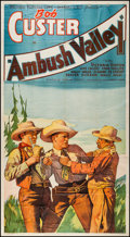 """Movie Posters:Western, Ambush Valley (Reliable, 1936). Three Sheet (41"""" X 77""""). Western....."""