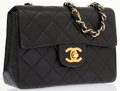 Luxury Accessories:Bags, Chanel Black Quilted Lambskin Leather Mini Flap Bag with GoldHardware. ...