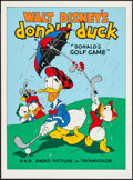 "Movie Posters:Animated, Donald's Golf Game (Circle Fine Art, R-1980s). Fine Art Serigraph(22.5"" X 30.5""). Animated.. ..."
