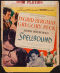 "Movie Posters:Hitchcock, Spellbound (Selznick, 1945). Trimmed Window Card (14"" X 16.75"").Hitchcock.. ..."
