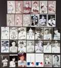Autographs:Post Cards, Baseball Greats Signed Exhibits And Postcards Lot Of 33. ...
