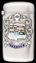 Silver Smalls:Match Safes, A RODEN SILVER AND ENAMEL MATCH SAFE . Roden Bros. Ltd., Toronto,Canada, circa 1900. Marks: 925, R, (lion passant),S...