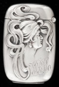 Silver Smalls:Match Safes, A KERR SILVER MATCH SAFE . Wm. B. Kerr & Co, Newark, NewJersey. Marks: (fasces), STERLING, 2432. 2-1/2 inches high(6.4...