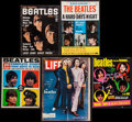 "Movie Posters:Rock and Roll, The Beatles Lot (Various, 1964-1991). Magazines (4) (MultiplePages, 8.5"" X 11 & 10.5"" X 13.5""), Souvenir Book (MultiplePag... (Total: 7 Items)"