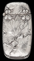 Silver Smalls:Match Safes, A GORHAM SILVER MATCH SAFE. Gorham Manufacturing Co., Providence,Rhode Island, 1901. Marks: (lion-anchor-G), B, M, STERLI...