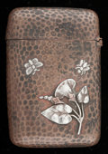 Silver Smalls:Other , A GORHAM PATINATED COPPER AND SILVER CARD CASE. GorhamManufacturing Co., Providence, Rhode Island, 1889. Marks: (anchor),...