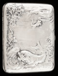 Silver Smalls:Cigarette Cases, A BLACKINTON SILVER AND SILVER GILT CIGARETTE CASE . R. Blackinton& Co., North Attleboro, Massachusetts, circa 1900. Marks:...