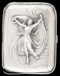 Silver Smalls:Cigarette Cases, A GORHAM SILVER AND SILVER GILT CIGARETTE CASE . GorhamManufacturing Co., Providence, Rhode Island, 1901. Marks:(lion-anch...