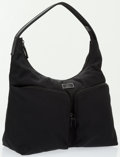 Luxury Accessories:Bags, Gucci Black Nylon Canvas Pocket Hobo Bag . ...