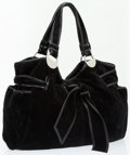 Luxury Accessories:Bags, Kooba Black Suede Elisha Tote Bag . ...