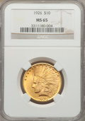 Indian Eagles, 1926 $10 MS65 NGC....