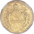 Italy: Papal States. Clement XII gold Scudo d'oro 1735