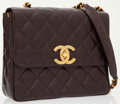 Luxury Accessories:Bags, Chanel Brown Caviar Leather Medium Flap Bag with Gold Hardware ....