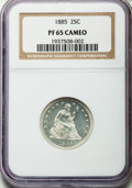 Proof Seated Quarters, 1885 25C PR65 Cameo NGC....