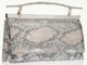Judith Leiber Metallic Snakeskin Evening Bag with Crystal Accent This Judith Leiber Metallic Snakeskin Evening Bag with...