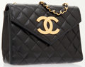 Luxury Accessories:Bags, Chanel Black Quilted Lambskin Leather Small Shoulder Bag with GoldChain & CC Detail. ...