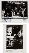 Music Memorabilia:Autographs and Signed Items, Led Zeppelin Set of Autographs on Two Promo Photos.... (Total: 2Items)