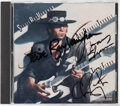 Music Memorabilia:Autographs and Signed Items, Stevie Ray Vaughan And Double Trouble Signed Texas Flood CD(Epic, 1983). ...