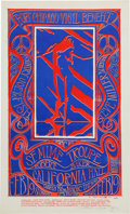 Music Memorabilia:Posters, Country Joe and the Fish/Steve Miller Band California Hall ConcertPoster Signed by Stanley Mouse (1967)....