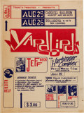 Music Memorabilia:Posters, The Yardbirds First US Tour Carousel Ballroom Concert Poster (BillQuarry's Teens 'n Twenties, 1965)....