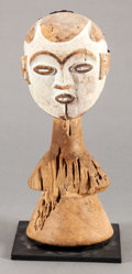 Tribal Art, Idoma (Nigeria, Western Africa). Cap mask. Wood, pigment and hair.Height: 10-3/4 inches. ...