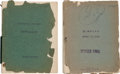 Movie/TV Memorabilia:Documents, A Shirley Temple-Related Pair Scripts, 1930s.... (Total: 2 Items)
