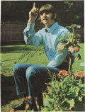 Music Memorabilia:Autographs and Signed Items, Ringo Starr Signed Vintage Color Photo. ...