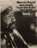 "Music Memorabilia:Autographs and Signed Items, Marvin Gaye Signed ""Let's Get It On"" Billboard Promo Ad (1973). ..."