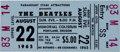 Music Memorabilia:Tickets, Beatles Unused Portland Memorial Coliseum Concert Ticket (1965). ...