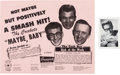 "Music Memorabilia:Posters, Buddy Holly and The Crickets ""Maybe Baby"" Flier and Fan Club PromoPhoto (1958)...."
