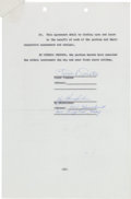 Movie/TV Memorabilia:Autographs and Signed Items, A Frank Sinatra Signed Contract, 1961....